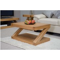 Product photograph showing Z Solid Oak 90cm Coffee Table