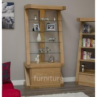Read more about Z designer solid oak and glass display cabinet