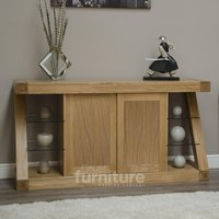 Read more about Z solid oak designer large sideboard