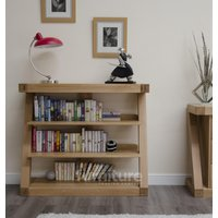 Read more about Z solid oak designer small bookcases