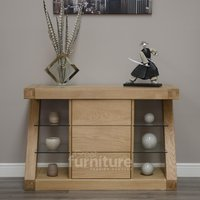 Read more about Z solid oak designer narrow sideboard