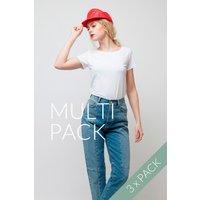 3er Pack Bio T-Shirt für Frauen Weiß