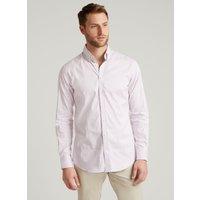 Hackett London Men's Contrast Panel Bengal Stripe Cotton Shirt | Pink/Sky