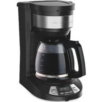 12-Cup Programmable Coffee Maker, Black (46290)
