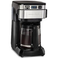 12-Cup Programmable Coffee Maker with Front-Fill & Swing-Out Basket, Black (46310)
