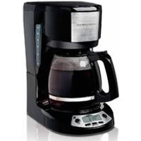 12-Cup Programmable Coffee Maker with 3 Settings, Black (49615)