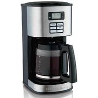 12-Cup Programmable Coffee Maker for Cone Filters, Stainless Steel (49618)