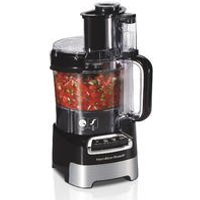 10-Cup Stack & Snap™ Food Processor with Big Mouth®, Black & Stainless (70723)