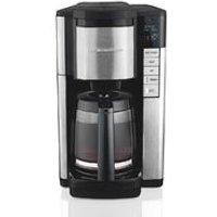 12-Cup Programmable Coffee Maker with Easy Access, Black & Stainless (46381)
