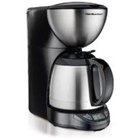 10-Cup Programmable Coffee Maker with Thermal Carafe, Black & Stainless (49855)