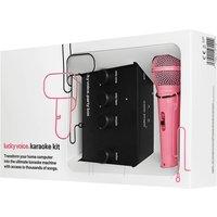 Lucky Voice Pink Mic Karaoke Machine
