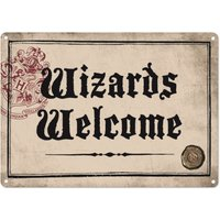 Harry Potter Wizards Welcome Small Tin Sign