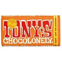 Tony's Fairtrade Milk Chocolate Caramel and Sea Salt