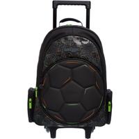 Smiggle Soccer Black Suitcase on Wheels Bag - Kick Collectio