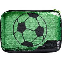 Smiggle Soccer Black Pencil Case with Mirror - Kick Collecti