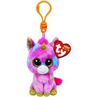 TY Fantasia Pink Unicorn Beanie Boo Clip