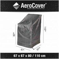 Atmungsaktive Schutzhülle für Stapelstühle 67x67xH80/110 cm