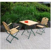 Kurgarten - Garnitur BAD TÖLZ 3-teilig, Flachstahl grün + Robini