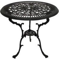 Tisch 70cm rund Aluguss grau-antik