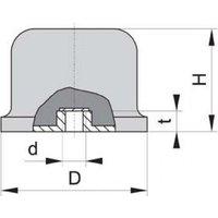 Gummi Anschlag Puffer GPxEB balli 80x60 M12