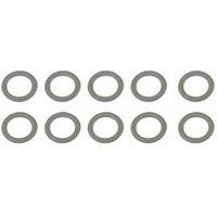 Gardinenringe 13 x 18 mm für Scheibenstangen Farbe:weiß