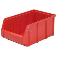 Lagerbox Kunststoff Farbe:rot Größe:1
