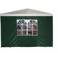 Seitenplane für Pavillon 3x3m Farbe:grün