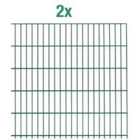 Einstab-Zaunmatten Inhalt:2 Stück Mattenbreite x Höhe:2000 x 1250mm Farbe:grün