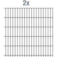 Einstab-Zaunmatten Inhalt:2 Stück Mattenbreite x Höhe:2000 x 1250mm Farbe:anthrazit