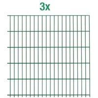 Einstab-Zaunmatten Inhalt:3 Stück Mattenbreite x Höhe:2000 x 1250mm Farbe:grün