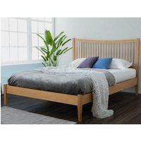 Berwick Oak Wooden Bed Frame Only - 4ft6 Double