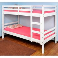 Durham White Wooden Bunk Bed Frame - 2ft6 Small Single