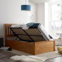 Francis Oak Wooden Ottoman Storage Bed Frame - 3ft Single