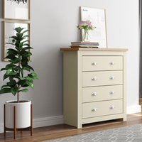 Winchester Cream and Oak 4 Drawer Chest