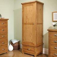 Woburn Oak Wooden 1 Door 1 Drawer Wardrobe