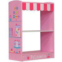 Patisserie Pink Wooden Children's Bookcase
