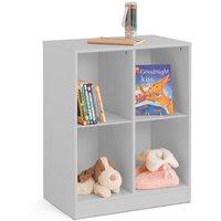 Pluto Dove Grey Wooden Bookcase