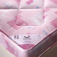 Gemma Pink Spring Kids Mattress - 2ft6 Small Single (75 x 190 cm)