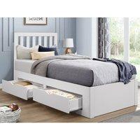 Appleby White Wooden 4 Drawer Storage Bed Frame - 3ft Single
