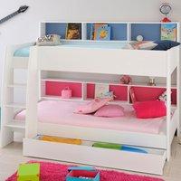 Tam Tam White Wooden Bunk Bed with Underbed Storage Drawer Frame - EU Single