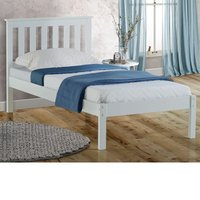 Wooden Bed Frame 4ft Small Double Denver White Solid