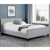 Stratus Grey Fabric Sleigh Bed Frame - 5ft King Size