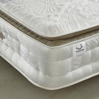 Windsor 3000 Pocket Sprung Memory Wool Orthopaedic Pillow Top Mattress - 6ft Super King Size (180 x 200 cm)