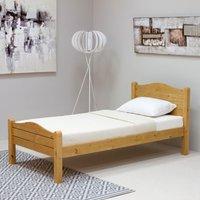 Wooden Bed Frame Only 5ft King Size Elwood Antique Pine