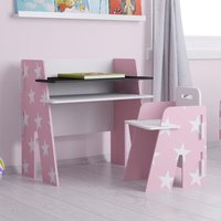 Star Pink and White Desk and Chair