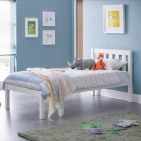 Luna White Wooden Bed Frame - 3ft Single