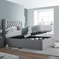 Wilson Grey Fabric Ottoman Storage Bed Frame - 4ft6 Double