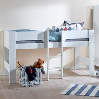 Heidi White Wooden Mid Sleeper Bed Frame - EU Single