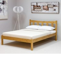 Wooden Bed Frame Only 4ft6 Double Poppy Antique Pine