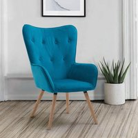 Willow Sapphire Velvet Fabric Chair